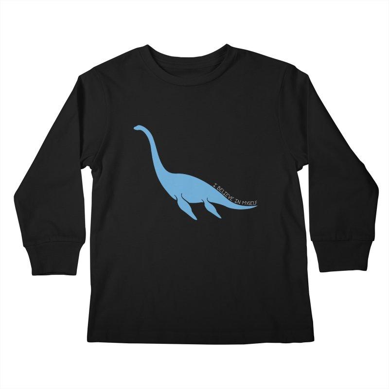 Nessie believe white Kids Longsleeve T-Shirt by Synner Design