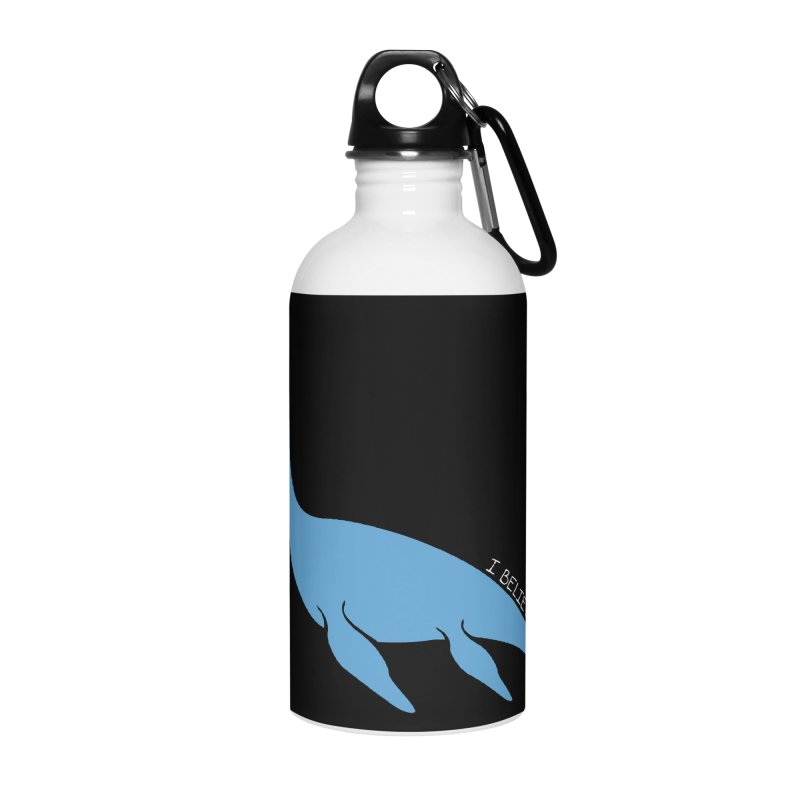 Nessie believe white Accessories Water Bottle by Synner Design