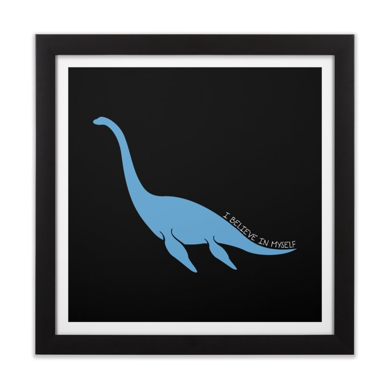 Nessie believe white Home Framed Fine Art Print by Synner Design