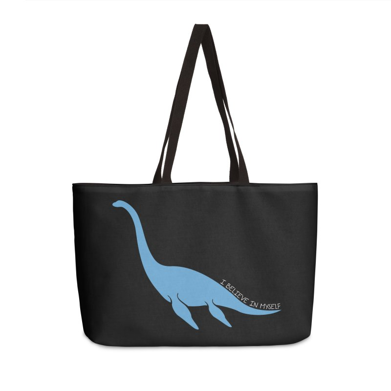 Nessie believe white Accessories Weekender Bag Bag by Synner Design