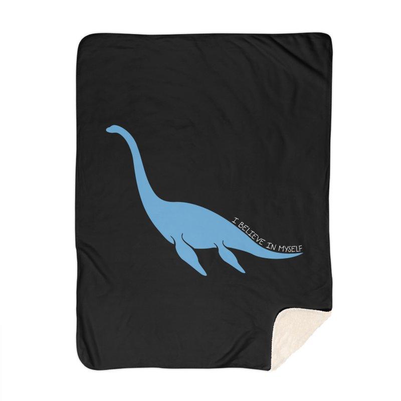 Nessie believe white Home Blanket by Synner Design