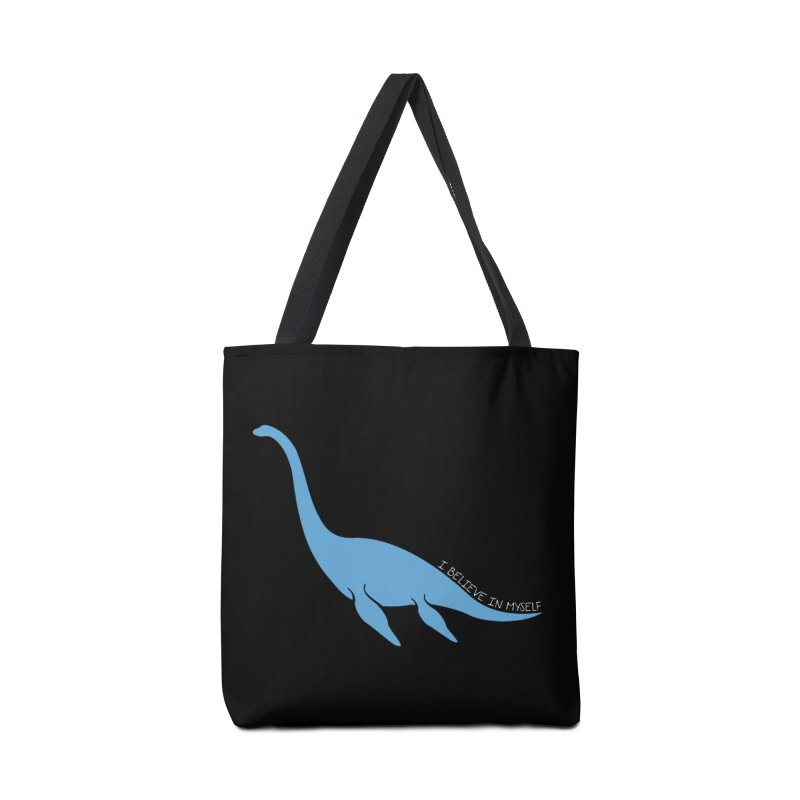 Nessie believe white Accessories Tote Bag Bag by Synner Design