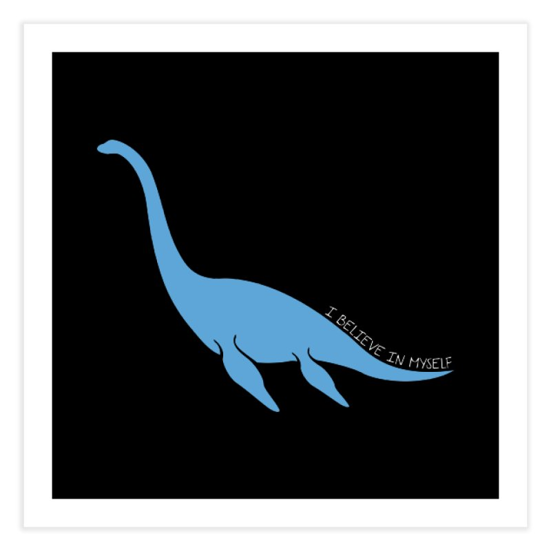 Nessie believe white Home Fine Art Print by Synner Design