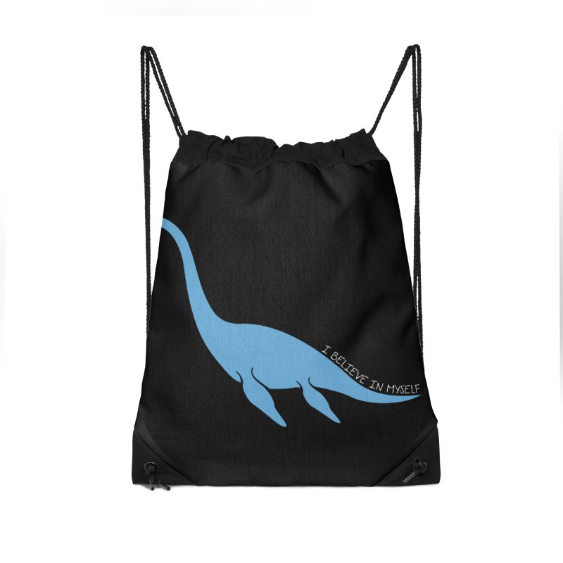 Nessie believe white Accessories Drawstring Bag Bag by Synner Design