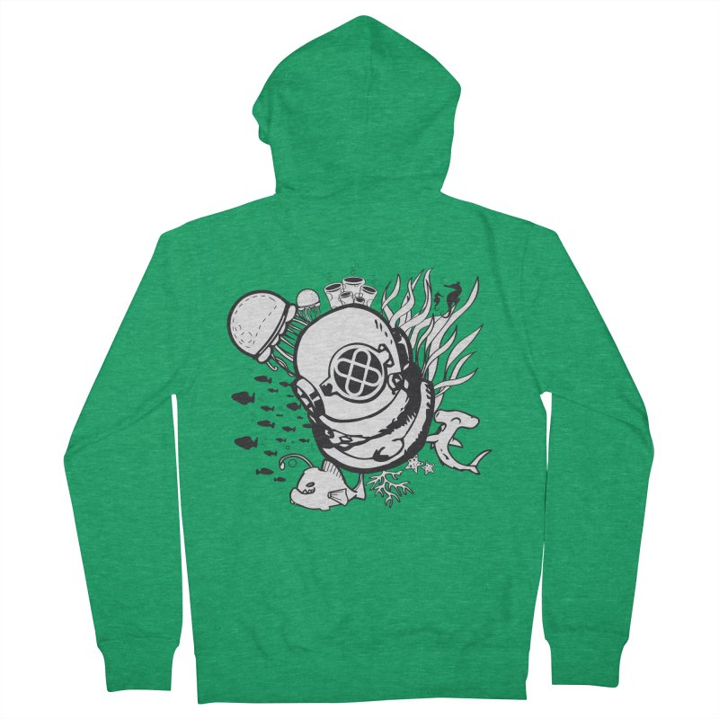 Into the ocean Men's French Terry Zip-Up Hoody by Synner Design