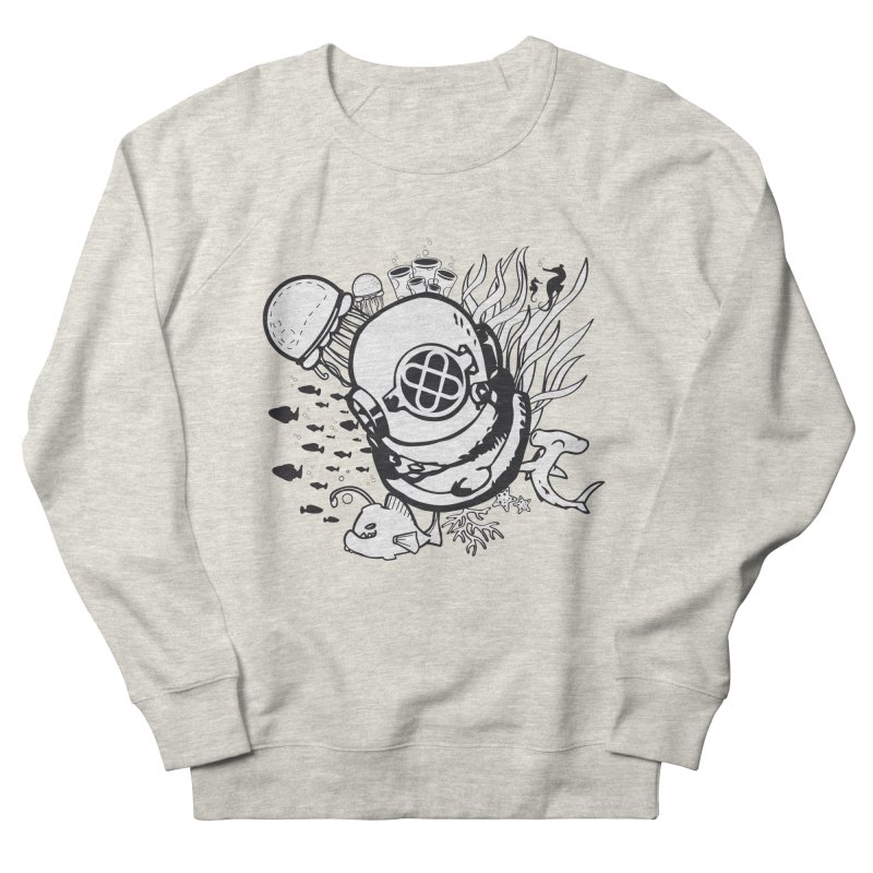 Into the ocean Women's French Terry Sweatshirt by Synner Design