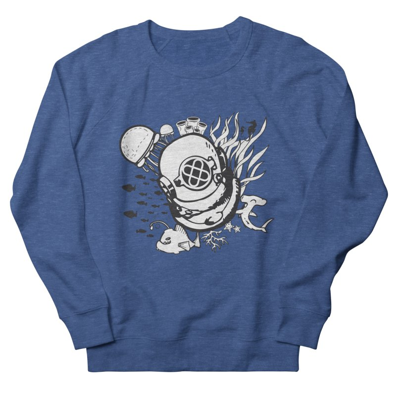 Into the ocean Men's French Terry Sweatshirt by Synner Design