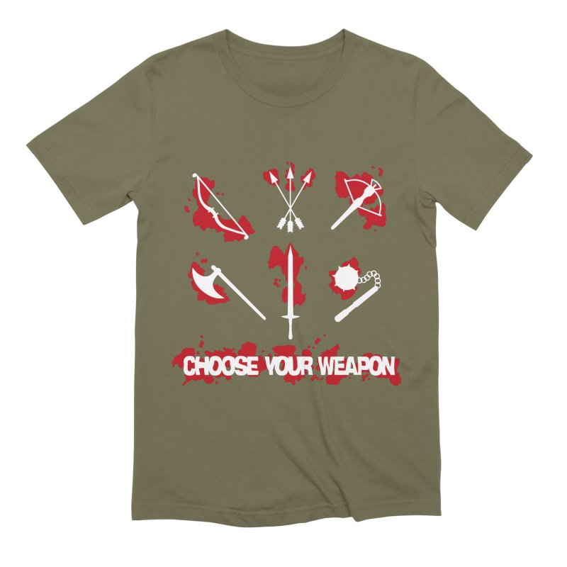 Choose your weapon Men's Extra Soft T-Shirt by Synner Design
