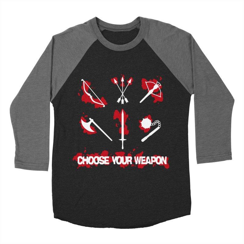 Choose your weapon Women's Baseball Triblend Longsleeve T-Shirt by Synner Design