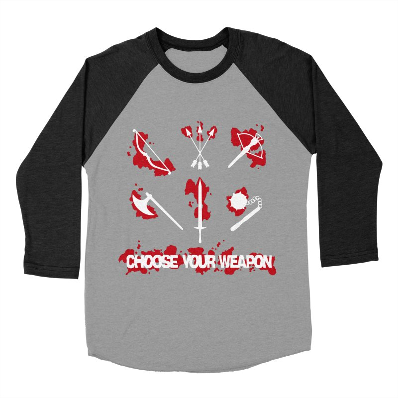 Choose your weapon Men's Baseball Triblend T-Shirt by Synner Design