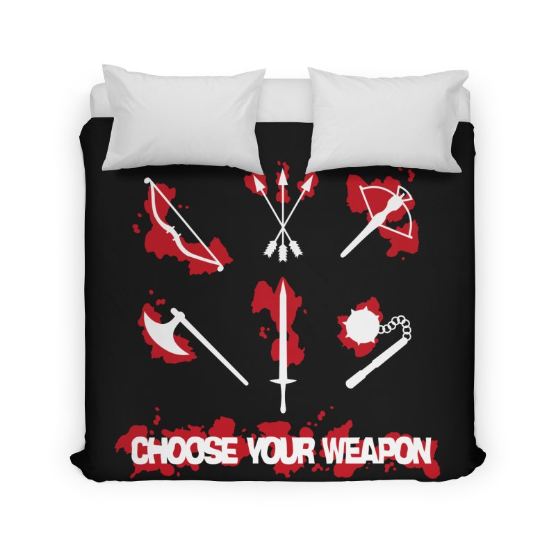 Choose your weapon Home Duvet by Synner Design
