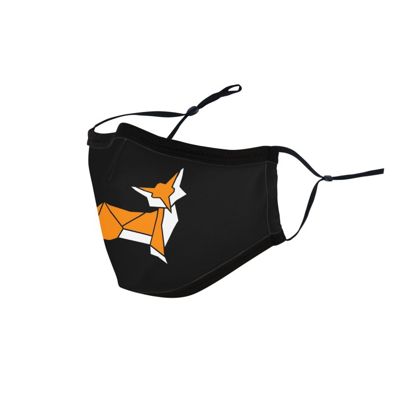 Little Fox origami Accessories Face Mask by Synner Design