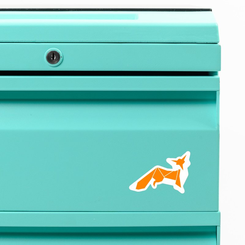 Little Fox origami Accessories Magnet by Synner Design