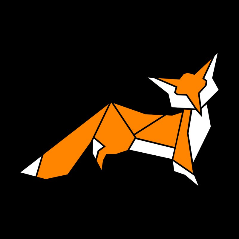 Little Fox origami Women's T-Shirt by Synner Design