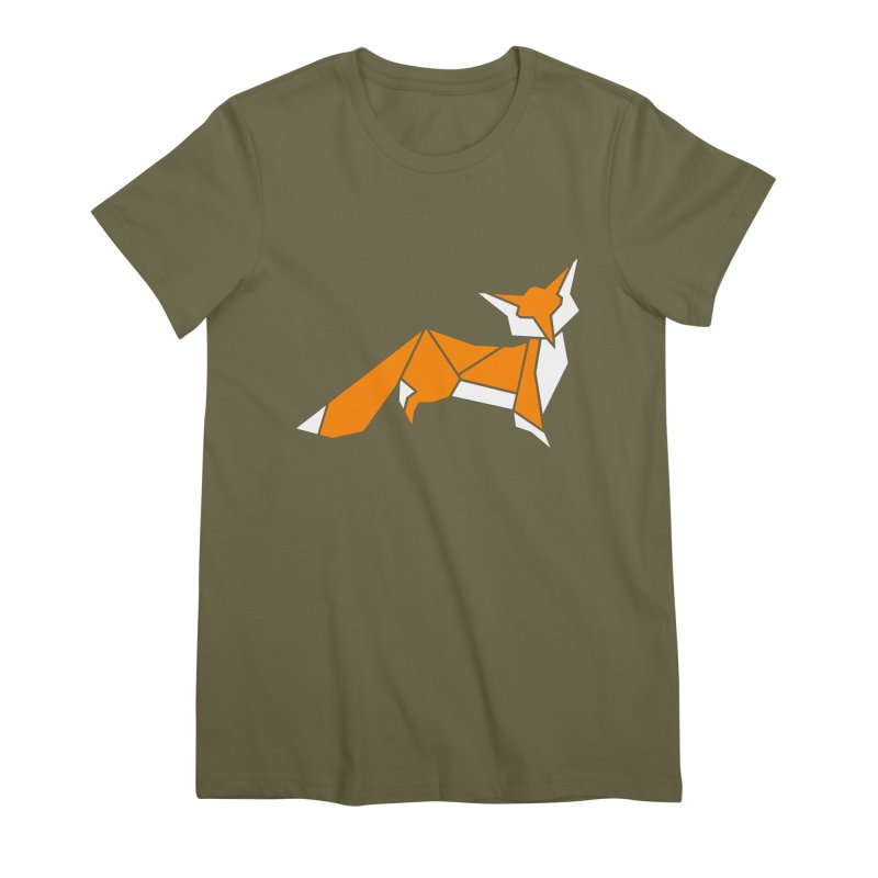 Little Fox origami Women's Premium T-Shirt by Synner Design