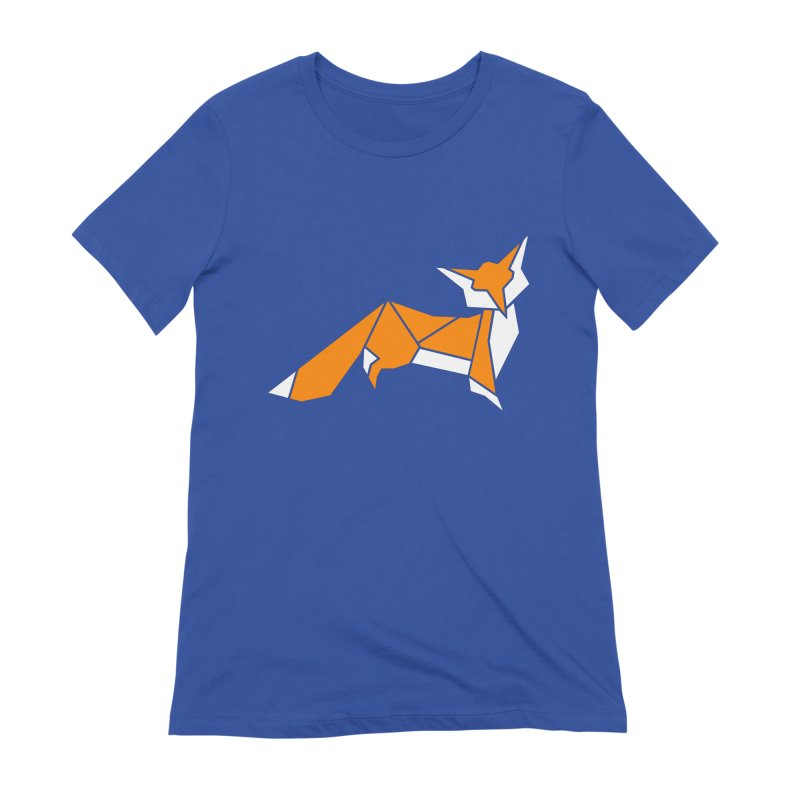 Little Fox origami Women's Extra Soft T-Shirt by Synner Design