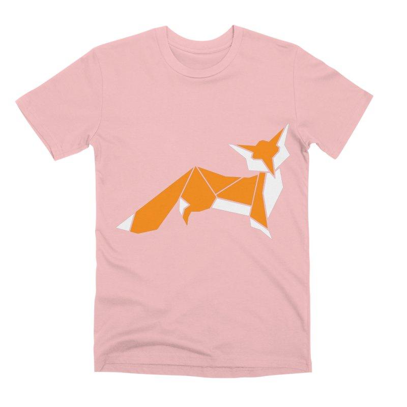 Little Fox origami Men's Premium T-Shirt by Synner Design