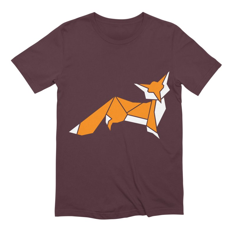 Little Fox origami Men's Extra Soft T-Shirt by Synner Design