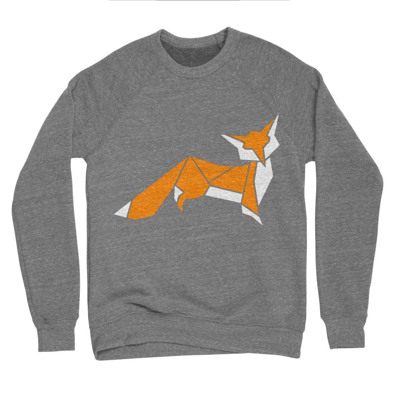 Little Fox origami Women's Sponge Fleece Sweatshirt by Synner Design