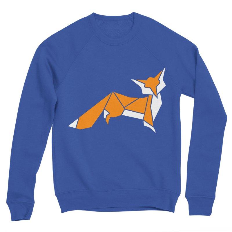 Little Fox origami Men's Sponge Fleece Sweatshirt by Synner Design