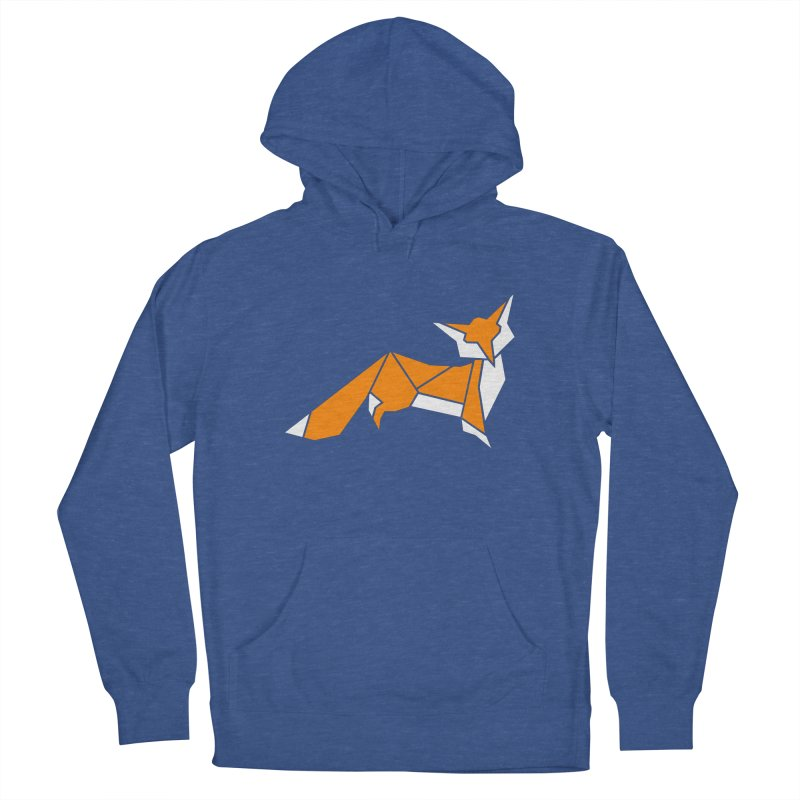 Little Fox origami Women's French Terry Pullover Hoody by Synner Design
