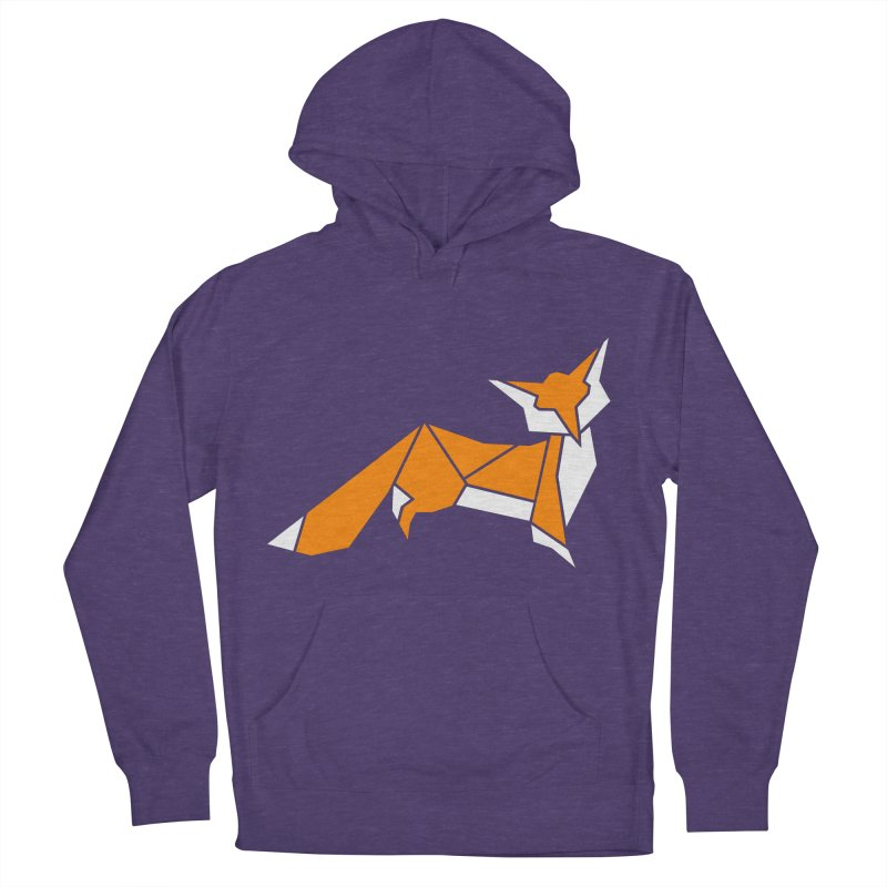 Little Fox origami Men's French Terry Pullover Hoody by Synner Design