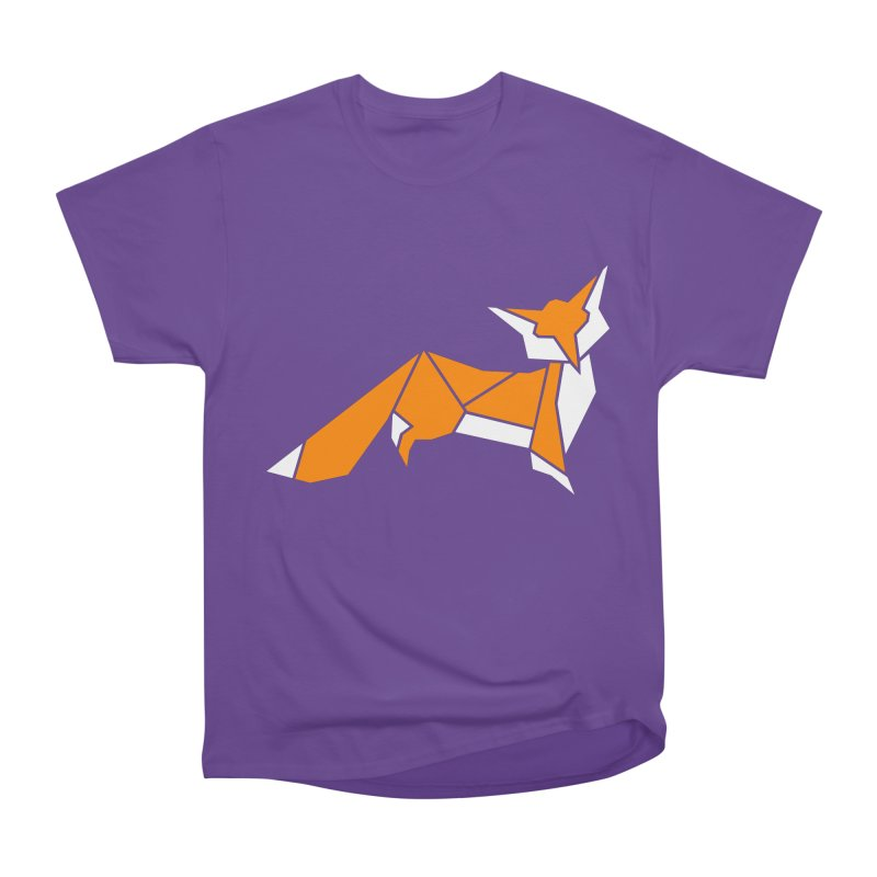 Little Fox origami Men's Heavyweight T-Shirt by Synner Design