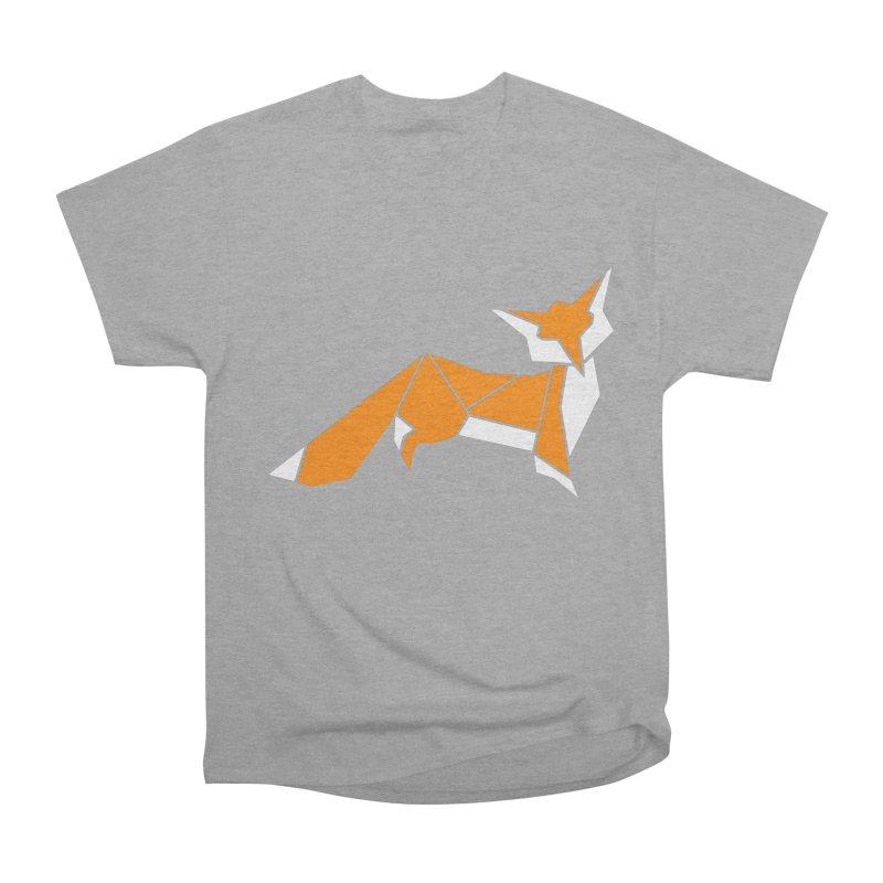 Little Fox origami Women's Heavyweight Unisex T-Shirt by Synner Design