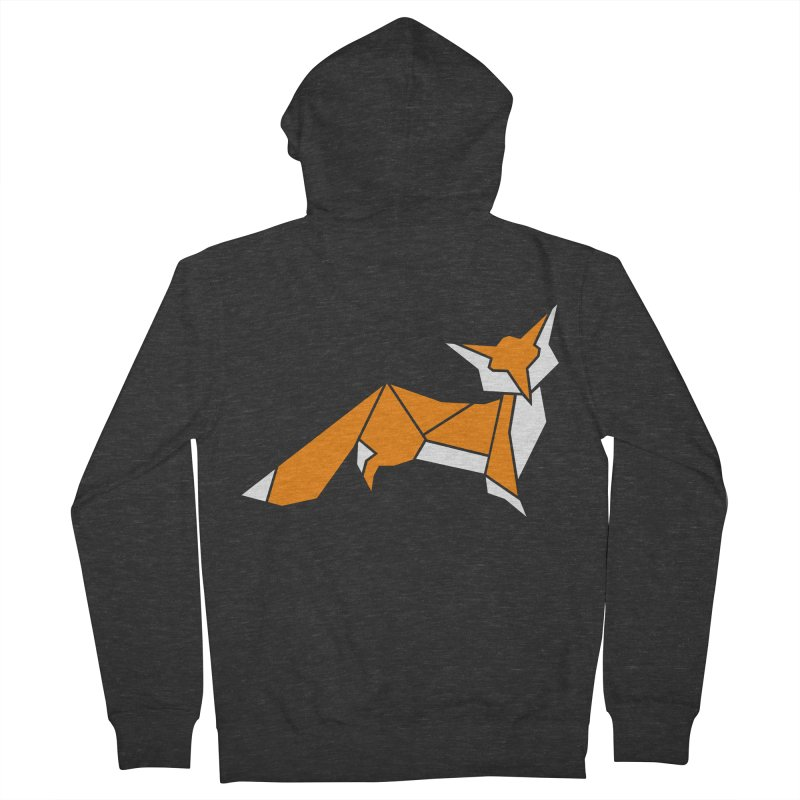 Little Fox origami Women's French Terry Zip-Up Hoody by Synner Design