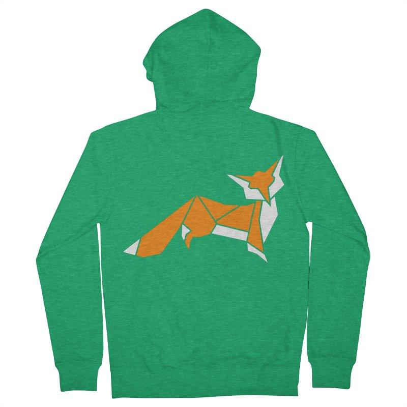 Little Fox origami Men's Zip-Up Hoody by Synner Design