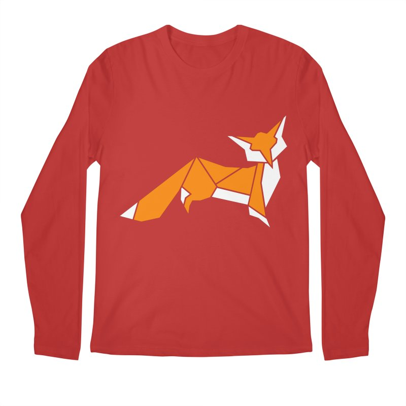 Little Fox origami Men's Regular Longsleeve T-Shirt by Synner Design