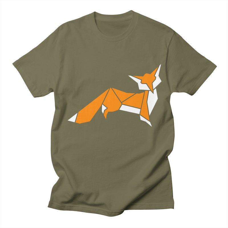 Little Fox origami Men's Regular T-Shirt by Synner Design
