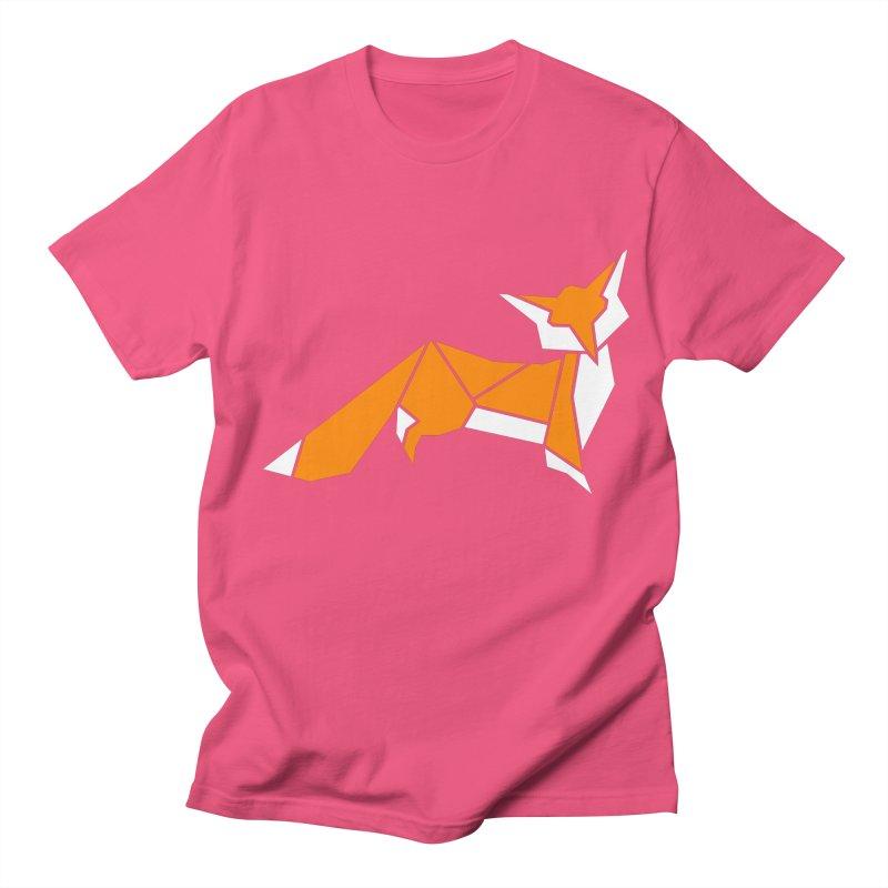 Little Fox origami Women's Regular Unisex T-Shirt by Synner Design