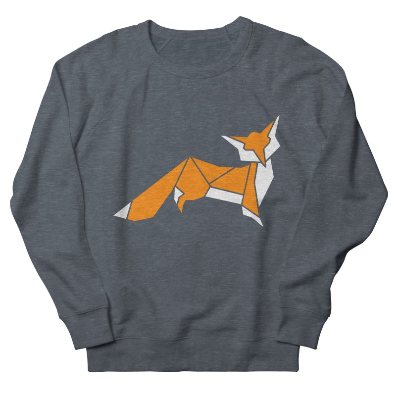 Little Fox origami Women's French Terry Sweatshirt by Synner Design