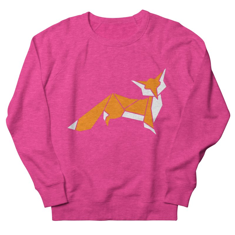 Little Fox origami Men's French Terry Sweatshirt by Synner Design
