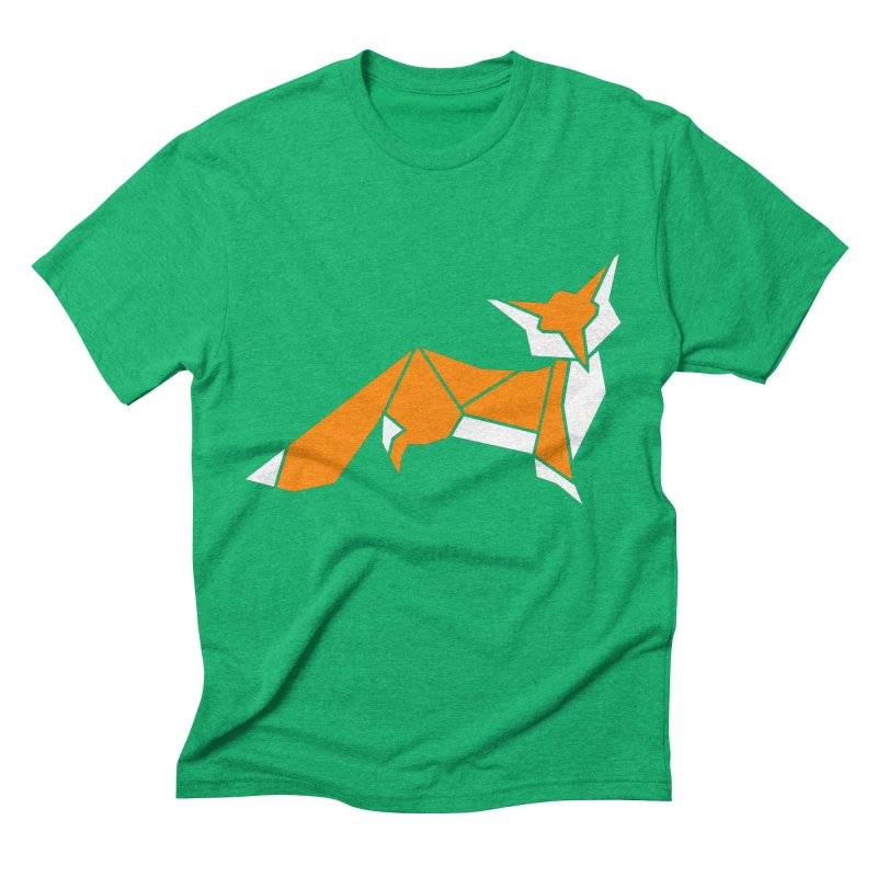 Little Fox origami Men's Triblend T-Shirt by Synner Design