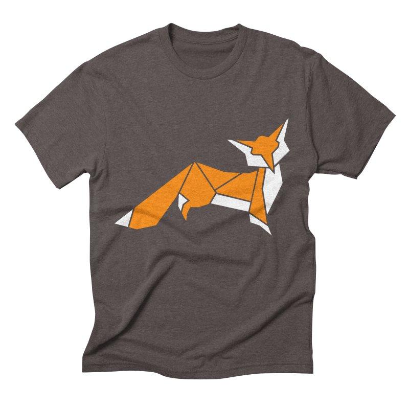Little Fox origami Men's Triblend T-Shirt by Synner Design