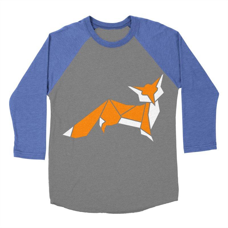 Little Fox origami Women's Baseball Triblend Longsleeve T-Shirt by Synner Design
