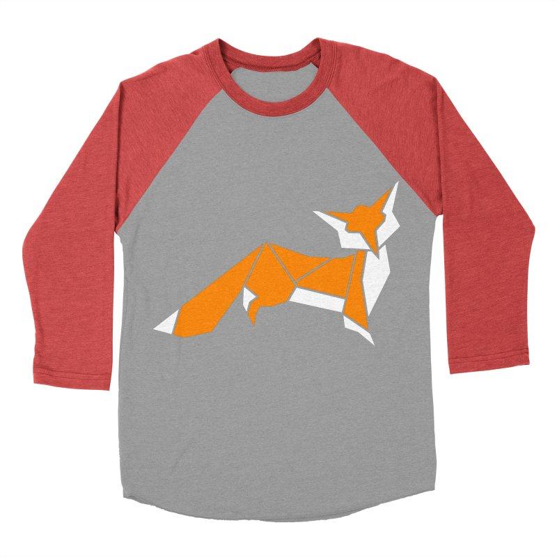 Little Fox origami Men's Baseball Triblend Longsleeve T-Shirt by Synner Design