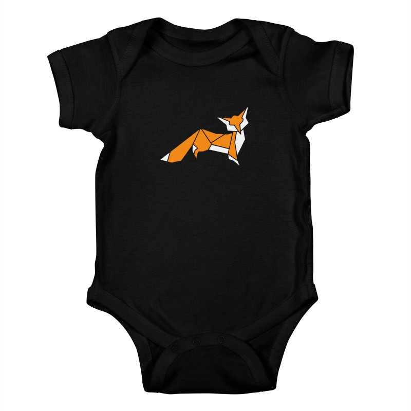 Little Fox origami Kids Baby Bodysuit by Synner Design