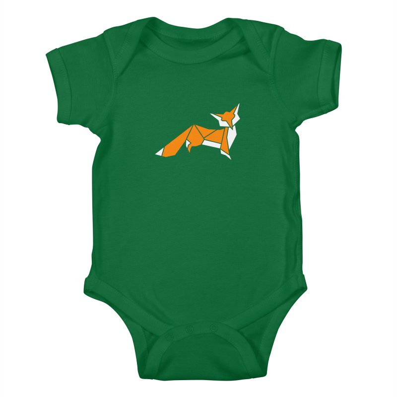 Little Fox origami Kids Baby Bodysuit by Synner Design