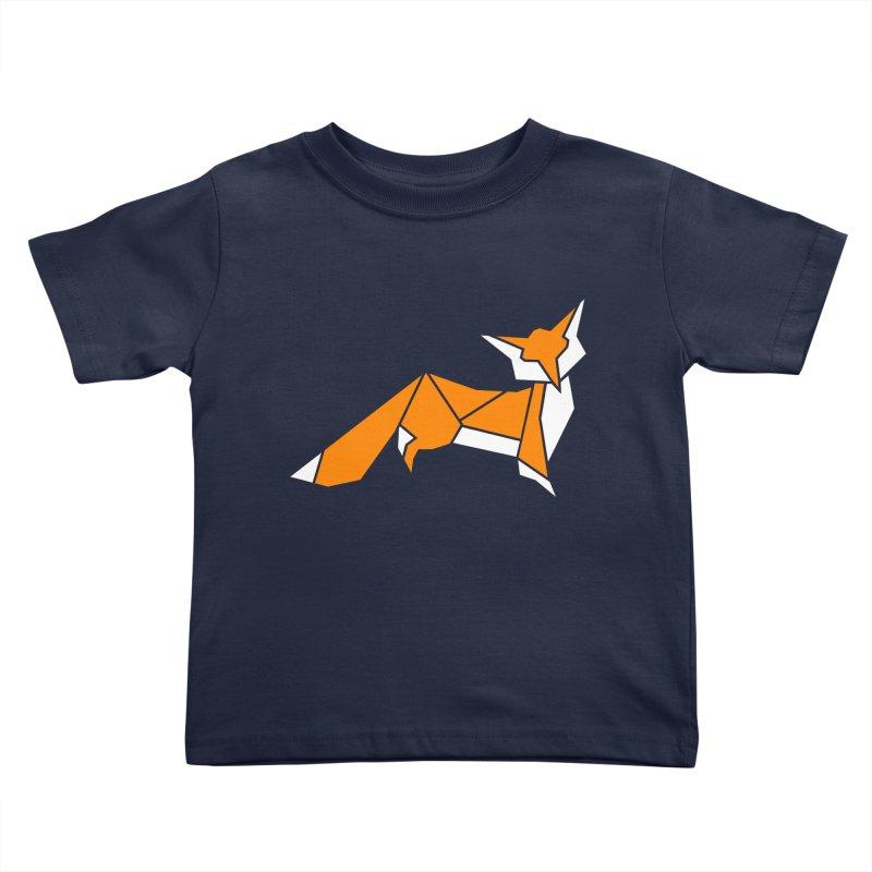 Little Fox origami Kids Toddler T-Shirt by Synner Design