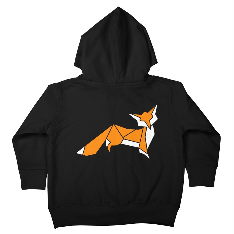 Little Fox origami Kids Toddler Zip-Up Hoody by Synner Design