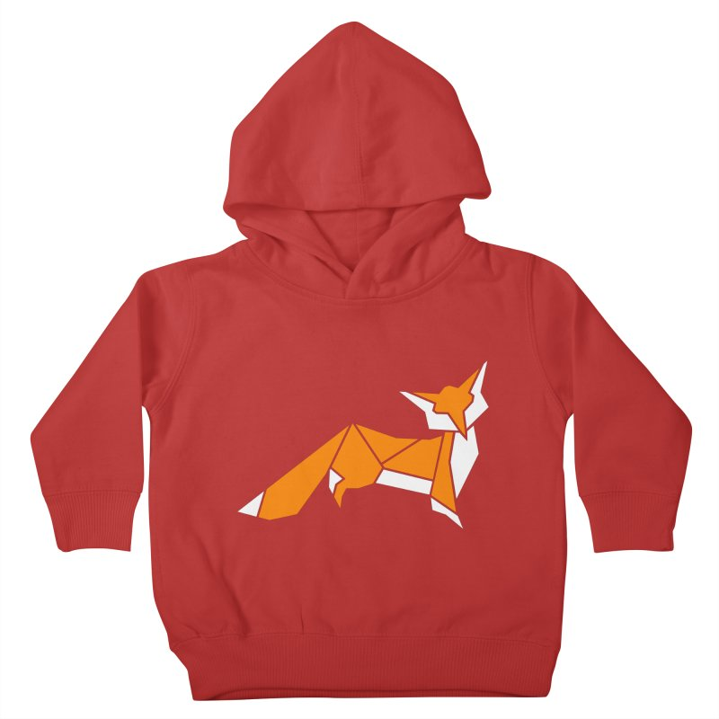 Little Fox origami Kids Toddler Pullover Hoody by Synner Design
