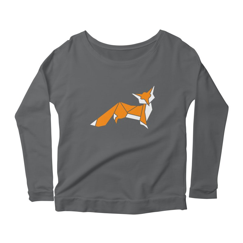 Little Fox origami Women's Longsleeve T-Shirt by Synner Design