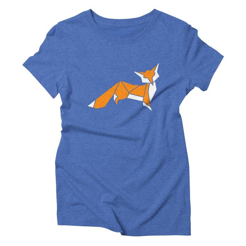 Little Fox origami Women's Triblend T-Shirt by Synner Design