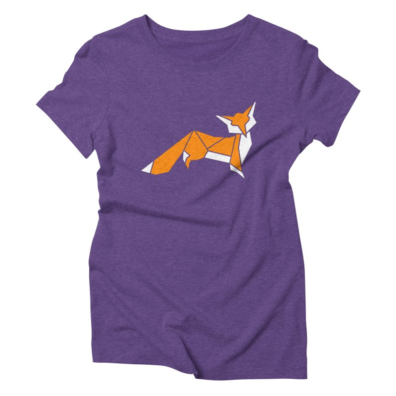 Little Fox origami Women's Triblend T-Shirt by Synner Design
