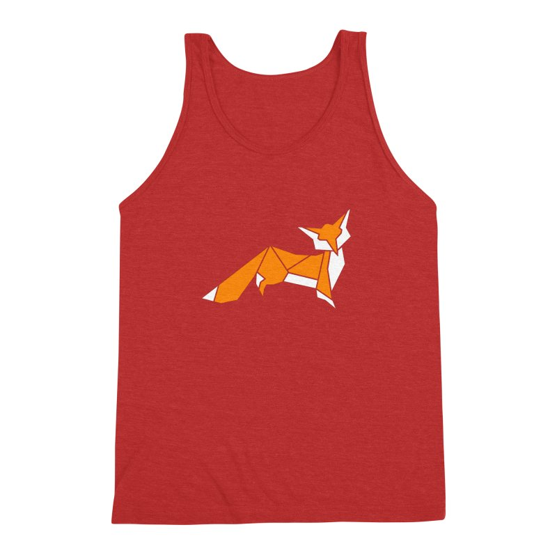 Little Fox origami Men's Triblend Tank by Synner Design