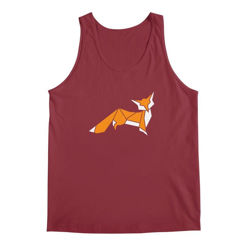 Little Fox origami Men's Regular Tank by Synner Design
