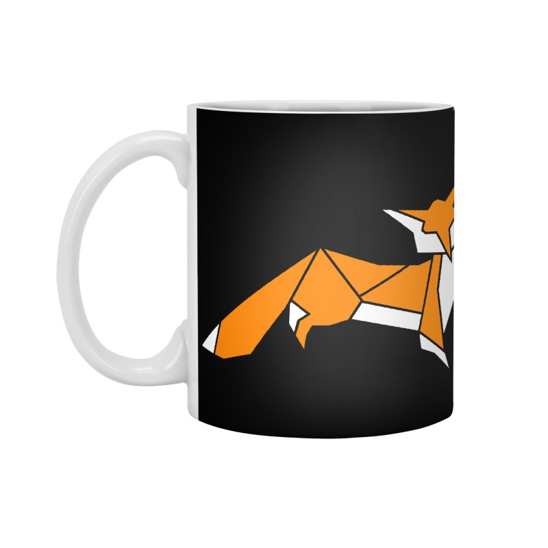 Little Fox origami Accessories Standard Mug by Synner Design